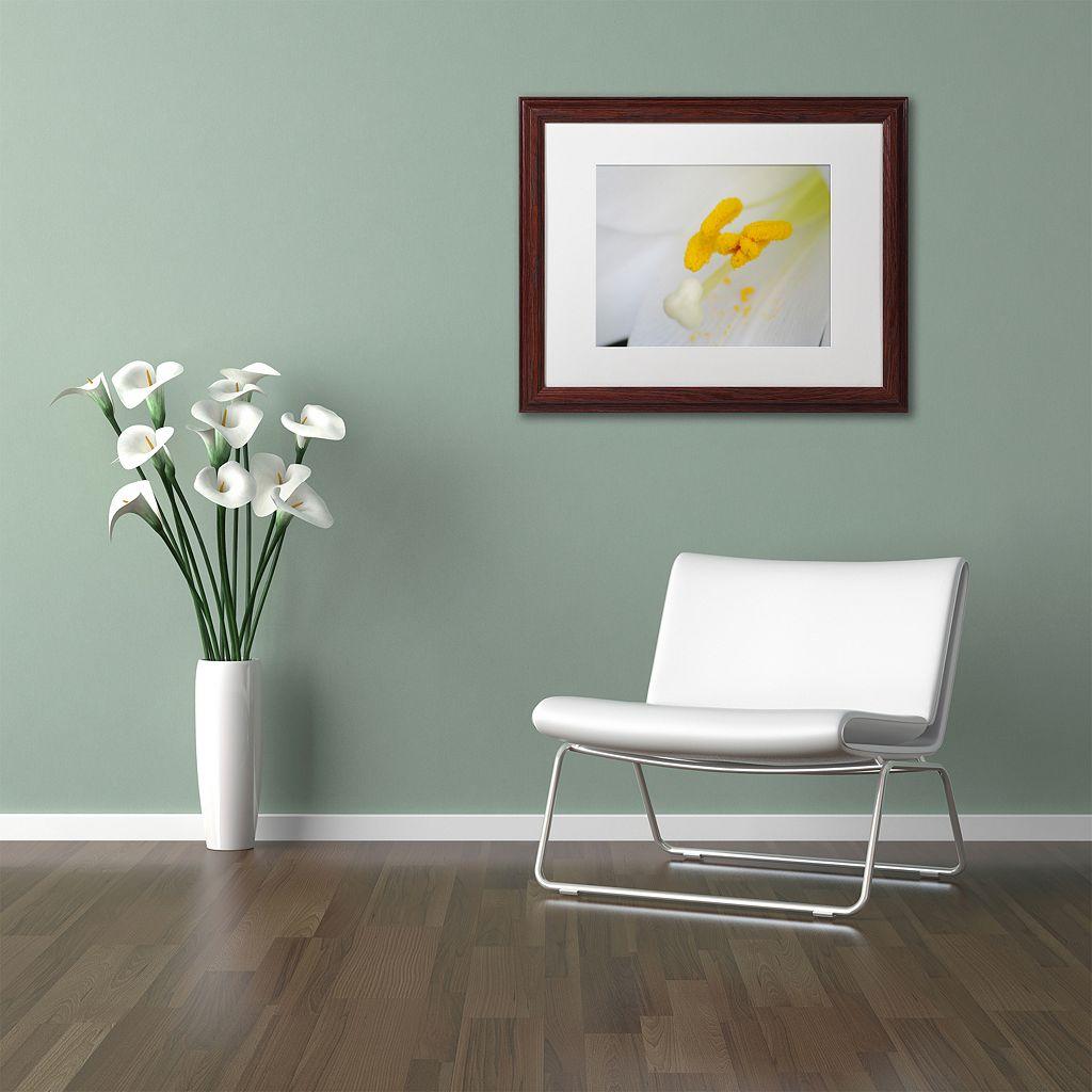 Trademark Fine Art Lucky Lasting Wood Finish Framed Wall Art