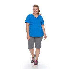 Plus Size Tek Gear® Easy Burnout V-Neck Yoga Tee