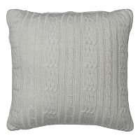 IZOD Chambray Stripe Cable Knit Throw Pillow