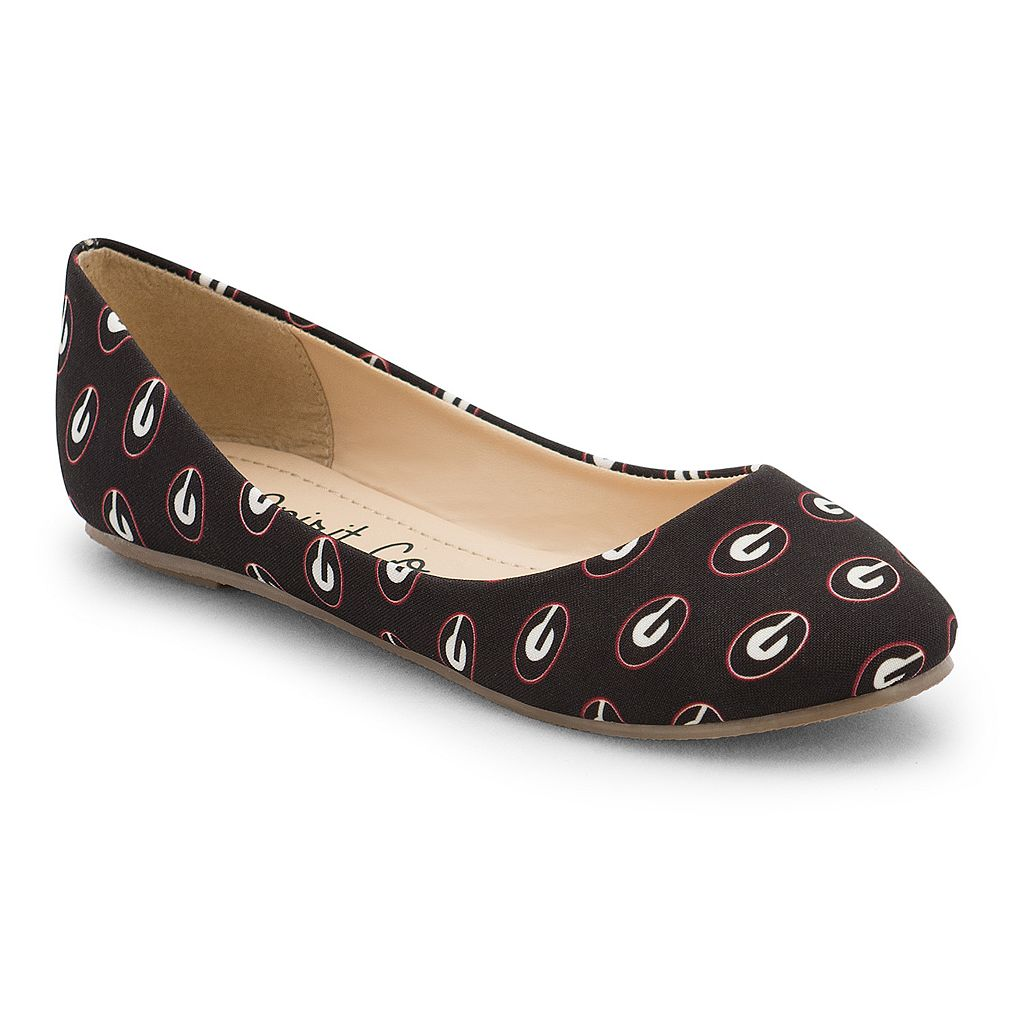 Women's Spirit Co. Georgia Bulldogs Logo Ballet Flats