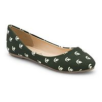 Women's Spirit Co. Michigan State Spartans Logo Ballet Flats