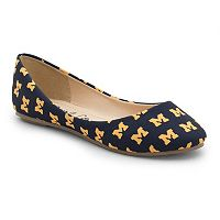 Women's Spirit Co. Michigan Wolverines Logo Ballet Flats