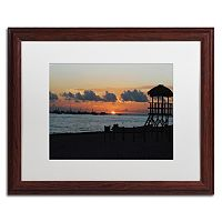 Trademark Fine Art Me Ke Aloha Pumehana Wood Finish Framed Wall Art