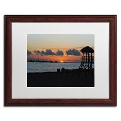 Trademark Fine Art Me Ke Aloha Pumehana Wood Finish Framed Wall Art