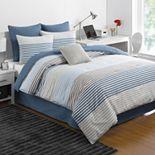 IZOD Chambray Stripe Comforter Set