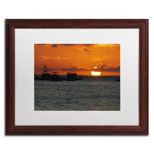 Trademark Fine Art Never Distant Wood Finish Framed Wall Art