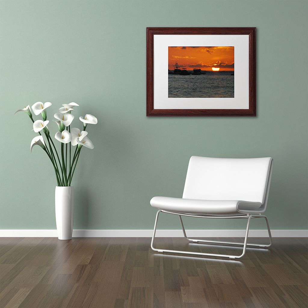 Trademark Fine Art Never Distant Wood Finish Framed Wall Art