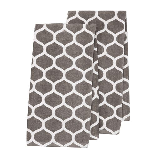 Food Network™ Gray Ogee Kitchen Towel 2-pack