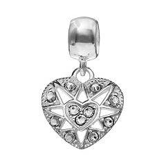 Individuality Beads Sterling Silver Crystal Heart Charm