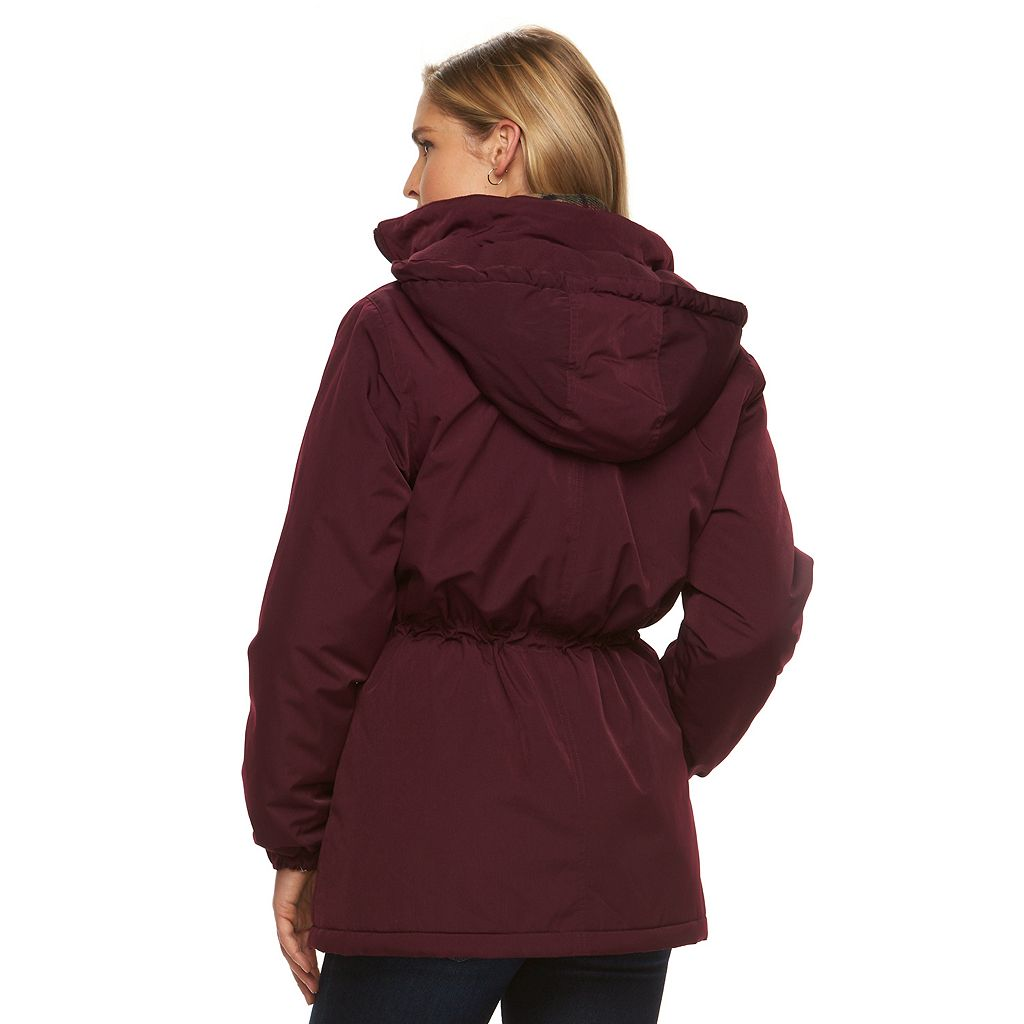 Women's Gallery Hooded Anorak Jacket & Scarf Set