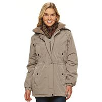 Women's Gallery Hooded Anorak Jacket & Scarf Set