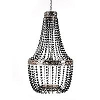 Tadpoles Embellished Metal Beaded Chandelier