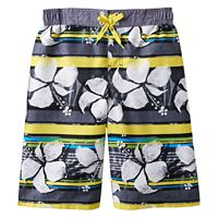 Boys 8-20 ZeroXposur Tropical Striped Swim Trunks