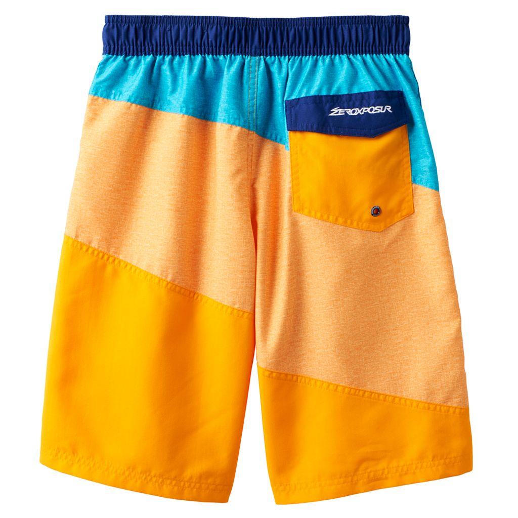 Boys 8-20 ZeroXposur Colorblock Swim Trunks