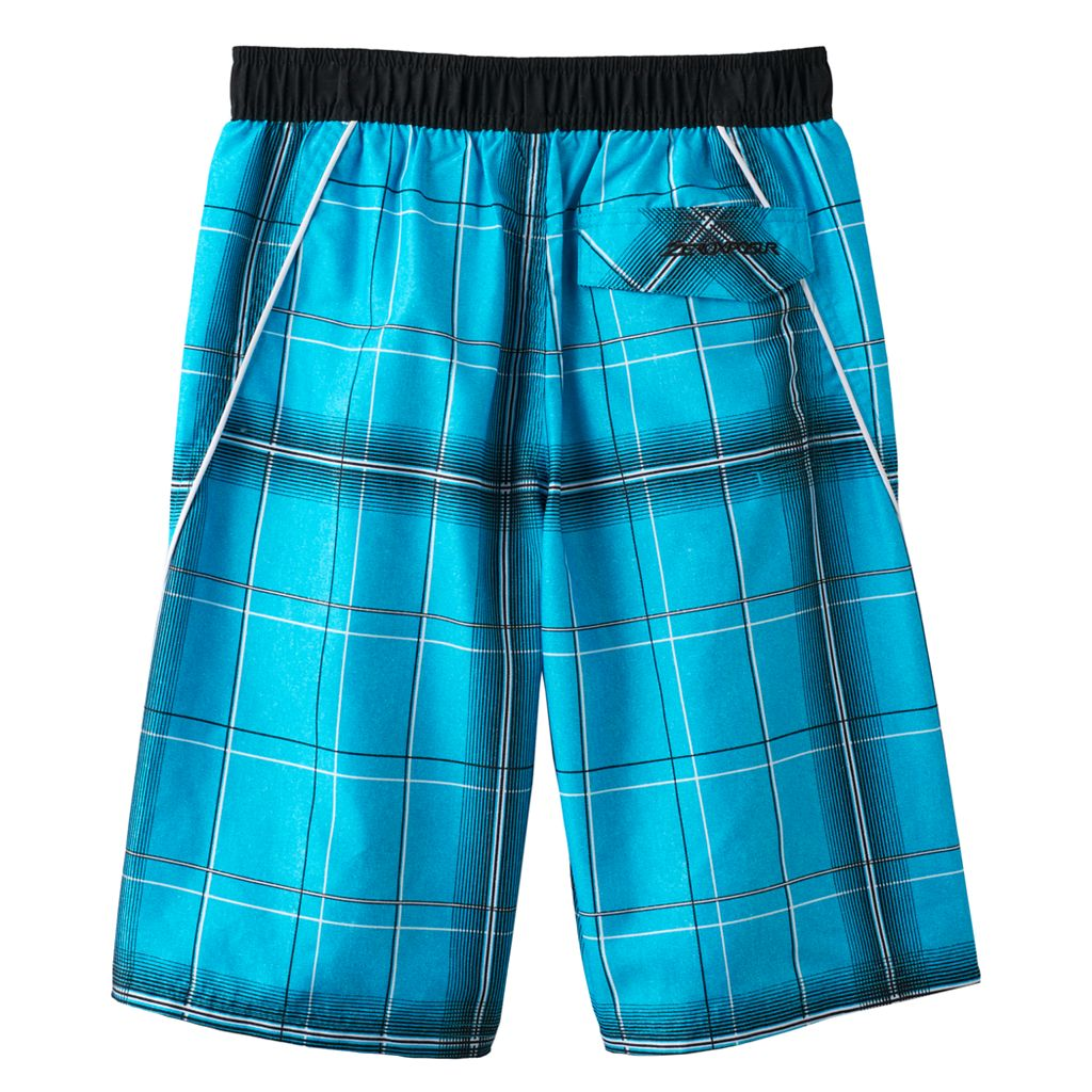 Boys 8-20 ZeroXposur Neritic Plaid Swim Trunks