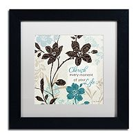 Trademark Fine Art Botanical Touch Quote I Framed Wall Art