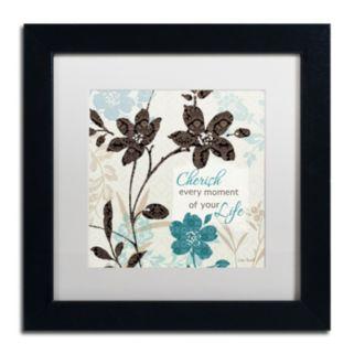 Trademark Fine Art Botanical Touch Quote I Framed Wall Art