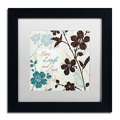 Trademark Fine Art Botanical Touch Quote II Framed Wall Art