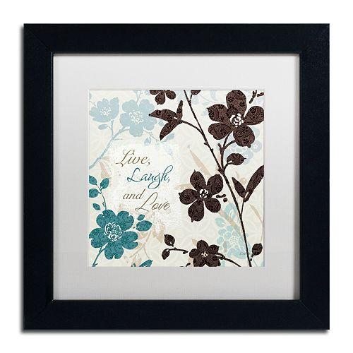 Trademark Fine Art Botanical Touch Quote II Framed Wall Art