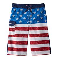 Boys 8-20 ZeroXposur Wicked Glory American Flag Swim Trunks
