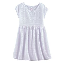Girls 7-16 SO® Crochet Dress Swim Cover Up