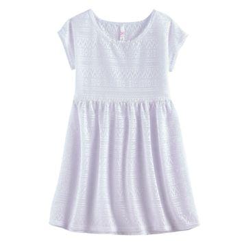 Girls 7-16 SO® Crochet Dress Swim Cover Up