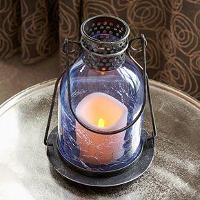Smart Living Monaco Glass LED Candle Lantern