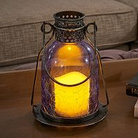 Smart Living Monaco Glass LED Candle Lantern