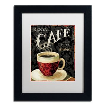 Trademark Fine Art Today's Coffee I Framed Wall Art