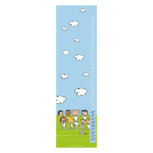 Peanuts Playing Soccer Canvas Growth Chart by Marmont Hill