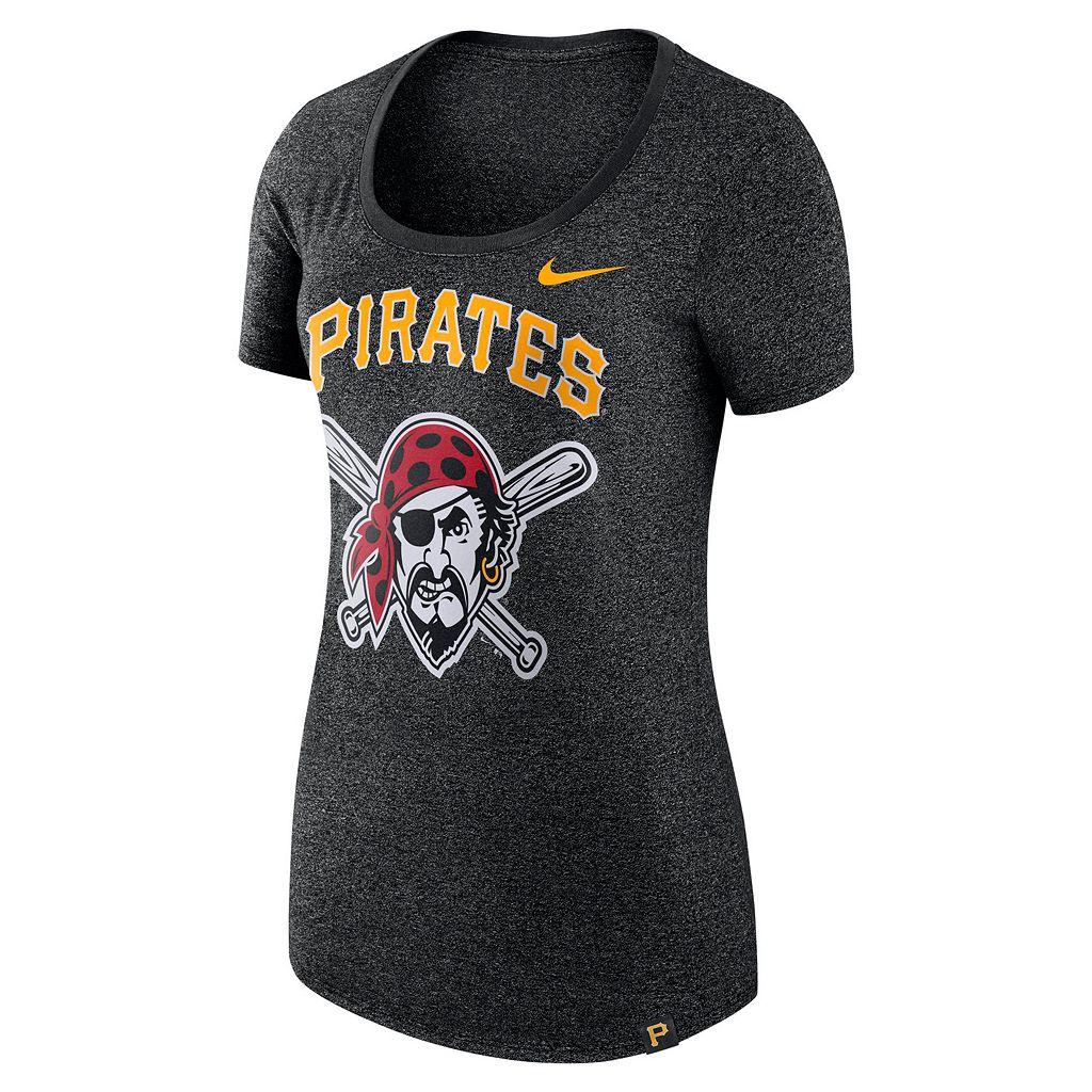 Women's Nike Pittsburgh Pirates Marled Tee
