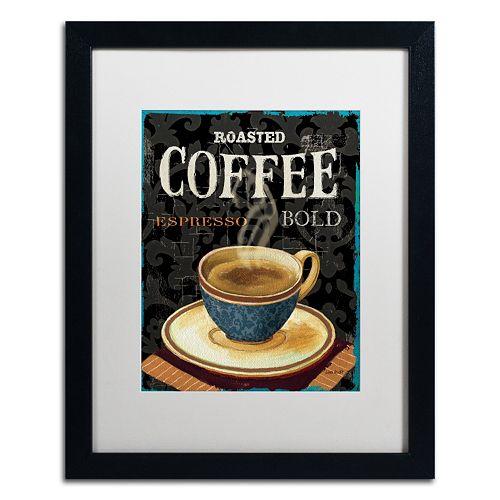 Trademark Fine Art Today's Coffee IV Framed Wall Art