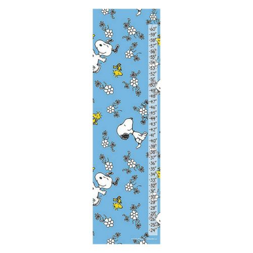 Peanuts Snoopy Flowers Canvas Growth Chart by Marmont Hill