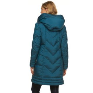 Women's Gallery Hooded Iridescent Down Puffer Jacket