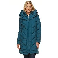 Women's Gallery Hooded Iridescent Down Puffer Jacket