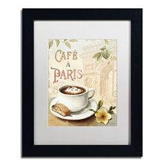 Trademark Fine Art Cafe in Europe I Framed Wall Art