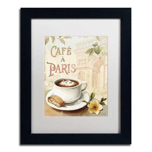 Trademark Fine Art Cafe in Europe I Framed Wall Art