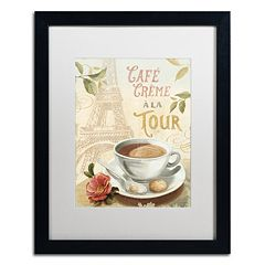 Trademark Fine Art Cafe in Europe II Framed Wall Art