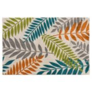 Natco Terrace Tropic Blythewood Leaves Indoor Outdoor Rug