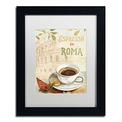 Trademark Fine Art Cafe in Europe III Black Framed Wall Art
