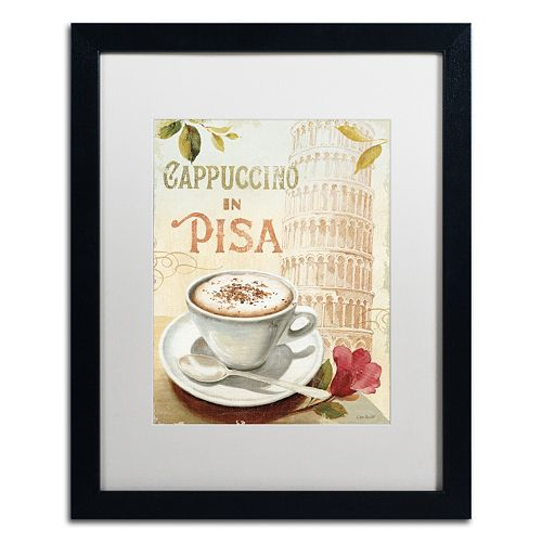 Trademark Fine Art Cafe in Europe IV Black Framed Wall Art