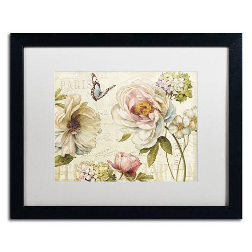 Trademark Fine Art Marche de Fleurs IV Black Framed Wall Art