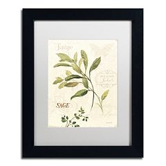 Trademark Fine Art Aromantique IV Black Framed Wall Art