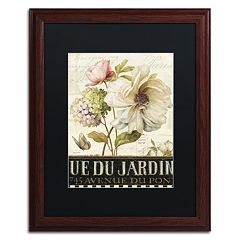 Trademark Fine Art Marche de Fleurs II Wood Finish Framed Wall Art