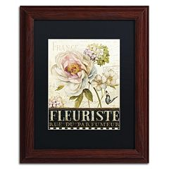 Trademark Fine Art Marche de Fleurs III Wood Finish Framed Wall Art