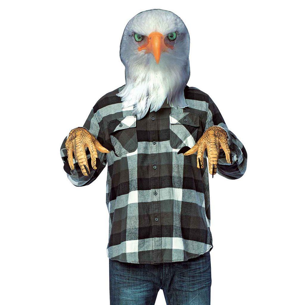 Adult Photoreal Eagle Head & Handcovers Costume Set
