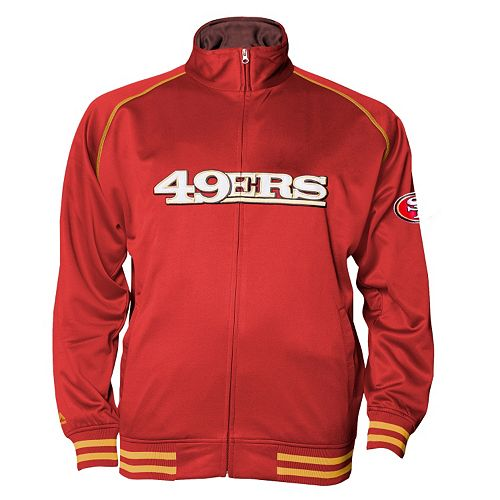 Big & Tall Majestic San Francisco 49ers Track Jacket