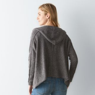 Women's SONOMA Goods for Life™ Marled Hooded Cardigan