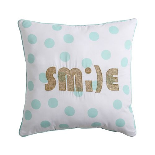 "VCNY Inspire Me Mix & Match ""Smile"" Throw Pillow"