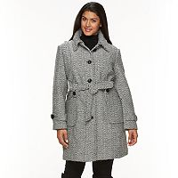 Plus Size Gallery Tweed Wool Blend Jacket